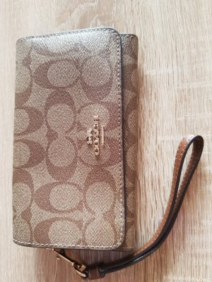 Coach Signature Flap Phone Wallet
