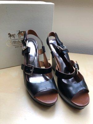 Coach Platform Sandals black-black brown