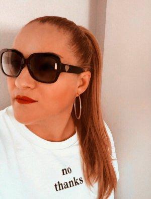Coach Owalne okulary przeciwsłoneczne czarny-złoto