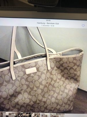 Coach Shopper cream-beige