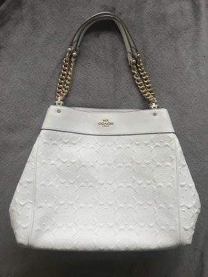 Coach Tote wit-wolwit Leer
