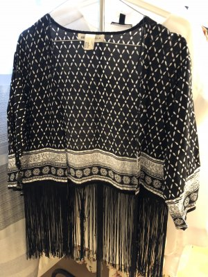 H&M x Coachella Collection Kimono blouse zwart-wit