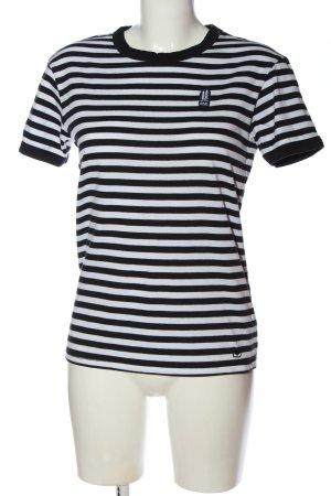 Coal Stripe Shirt black-white allover print casual look