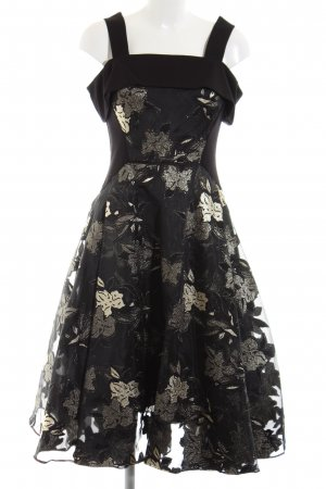 Coast A-Linien Kleid schwarz-goldfarben Blumenmuster Elegant