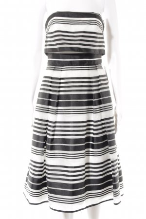 Coast Cocktailkleid schwarz-weiß Streifenmuster Elegant
