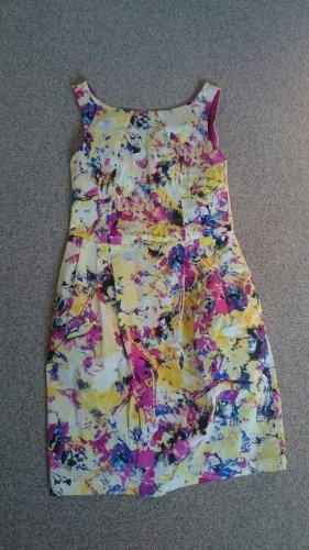 Coast Kleid  Etuikleid bunt gelb pink blau weiß Gr 34