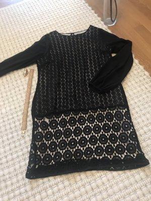 Coast Kleid schwarz beige mit edlen Stickereien Grösse 42