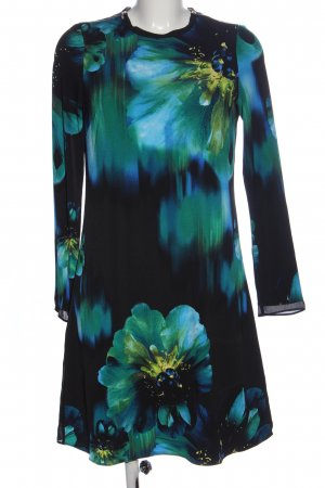 Coast Langarmkleid schwarz-blau Blumenmuster Elegant