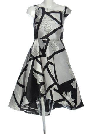 Coast Abito midi grigio chiaro-nero motivo floreale elegante