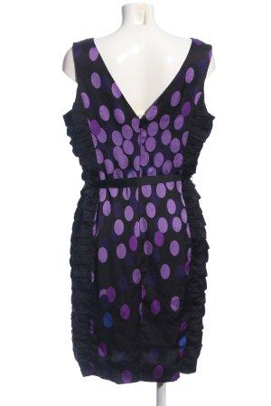 Coast Minikleid schwarz-lila Punktemuster Elegant