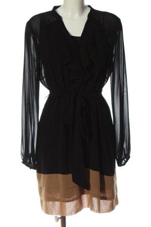 Coast Abito blusa nero-marrone elegante