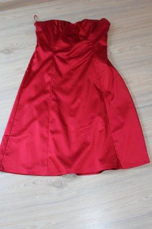 Coast Satin Satinkleid Bandeaukleid Kleid Corsagenoberteil rot neu UK 18 EUR 46 44