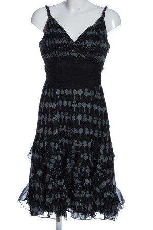 Coast Trägerkleid schwarz-hellgrau grafisches Muster Elegant