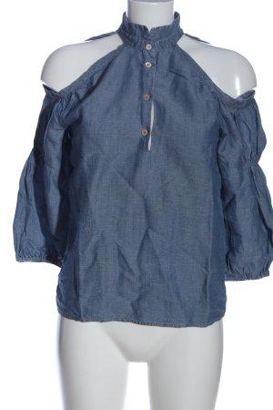 Coast Weber & Ahaus Blusa denim blu puntinato stile casual