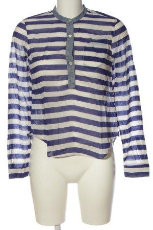 Coast Weber & Ahaus Blusa trasparente blu-bianco sporco motivo a righe