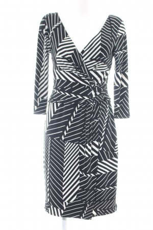 Coast Wickelkleid schwarz-weiß grafisches Muster Casual-Look