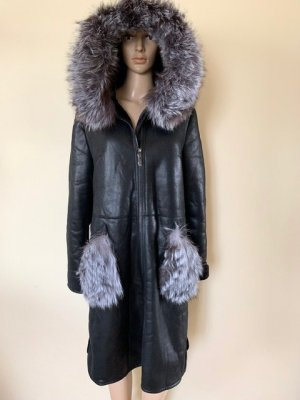 Coat with real fur XXL