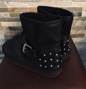 Coated Boots mit Nieten von H&M in Gr. 36
