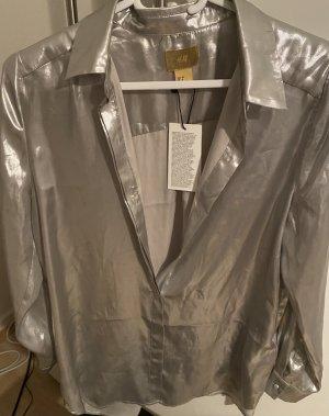 Coated Chiffon Bluse von H&M Premium Gold Label