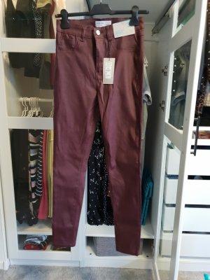 Denim Co. Pantalon en simili rouge carmin