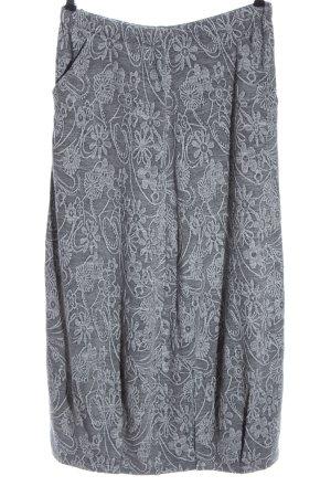Cobra Maxi Skirt light grey graphic pattern casual look