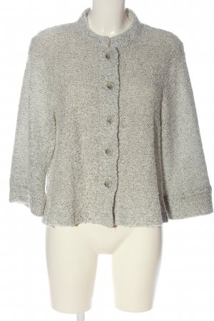 Cobra Knitted Cardigan light grey flecked casual look