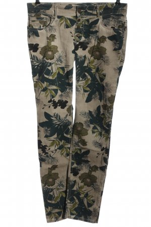 Coccara Five-Pocket Trousers brown-khaki allover print casual look