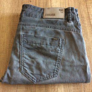 Pantalone cinque tasche grigio