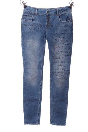 Coccara Jeans vita bassa blu stile casual