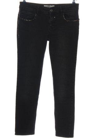 Coccara Jeans vita bassa nero stile casual