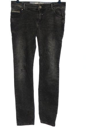 Coccara Drainpipe Trousers black casual look