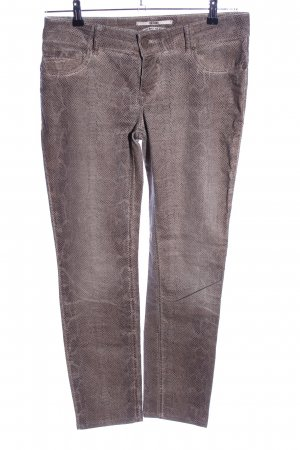 Coccara Slim Jeans braun Animalmuster Casual-Look