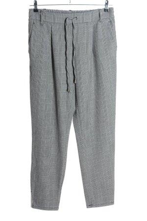Coccara Pantalone jersey motivo a quadri stile casual