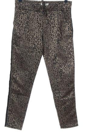 Coccara Jersey Pants natural white-black animal pattern extravagant style