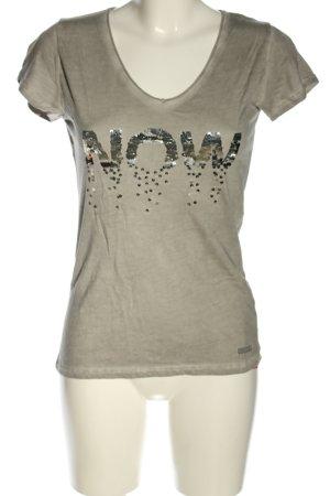 Coccara T-Shirt hellgrau Casual-Look