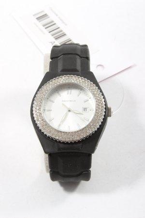Coccinelle Reloj analógico negro-color plata look casual
