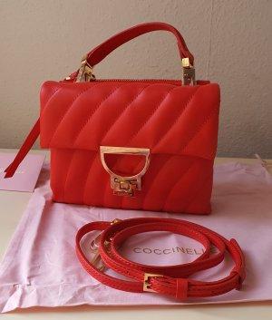 Coccinelle Arlettis Echtleder Tasche Minibag in Rot NEU