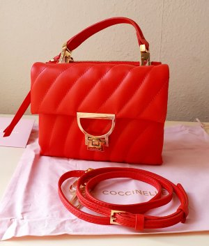 Coccinelle Arlettis Original Echtleder Tasche Minibag Crossbody in Rot NEU