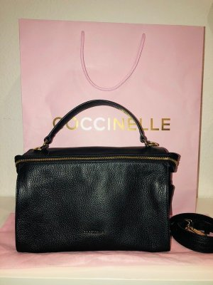 Coccinelle Handbag black-gold-colored leather