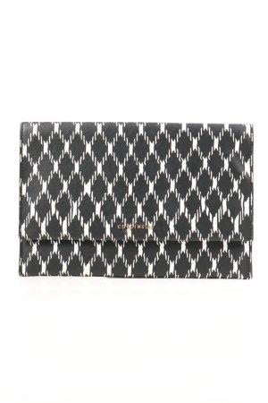Coccinelle Clutch schwarz-weiß Allover-Druck Casual-Look