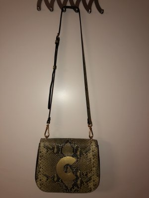 Coccinelle Craquante Python Crossbody Bag