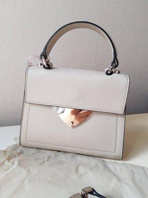 Coccinelle Echtleder Tasche Crossbody Minibag in Hellgrau NEU