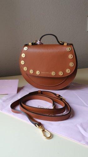 Coccinelle Echtleder Tasche Minibag Crossbody in Cognac NEU