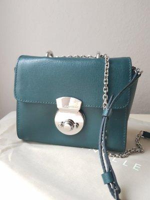 Coccinelle Echtleder Tasche Minibag Crossbody in Saffiano-optik Bearbeitung NEU