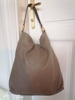 Coccinelle Hobo szaro-brązowy Skóra
