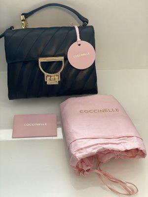 Coccinelle Handtasche echt Leder schwarz Gold