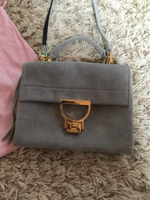 Coccinelle Crossbody bag gold-colored-light grey leather