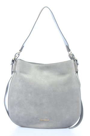 "Coccinelle Hobos ""Maeva Suede Hobo Bag"" light grey"