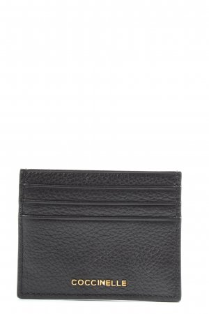 Coccinelle Etui na karty czarny W stylu casual