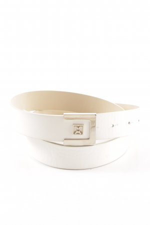 Coccinelle Leather Belt natural white casual look